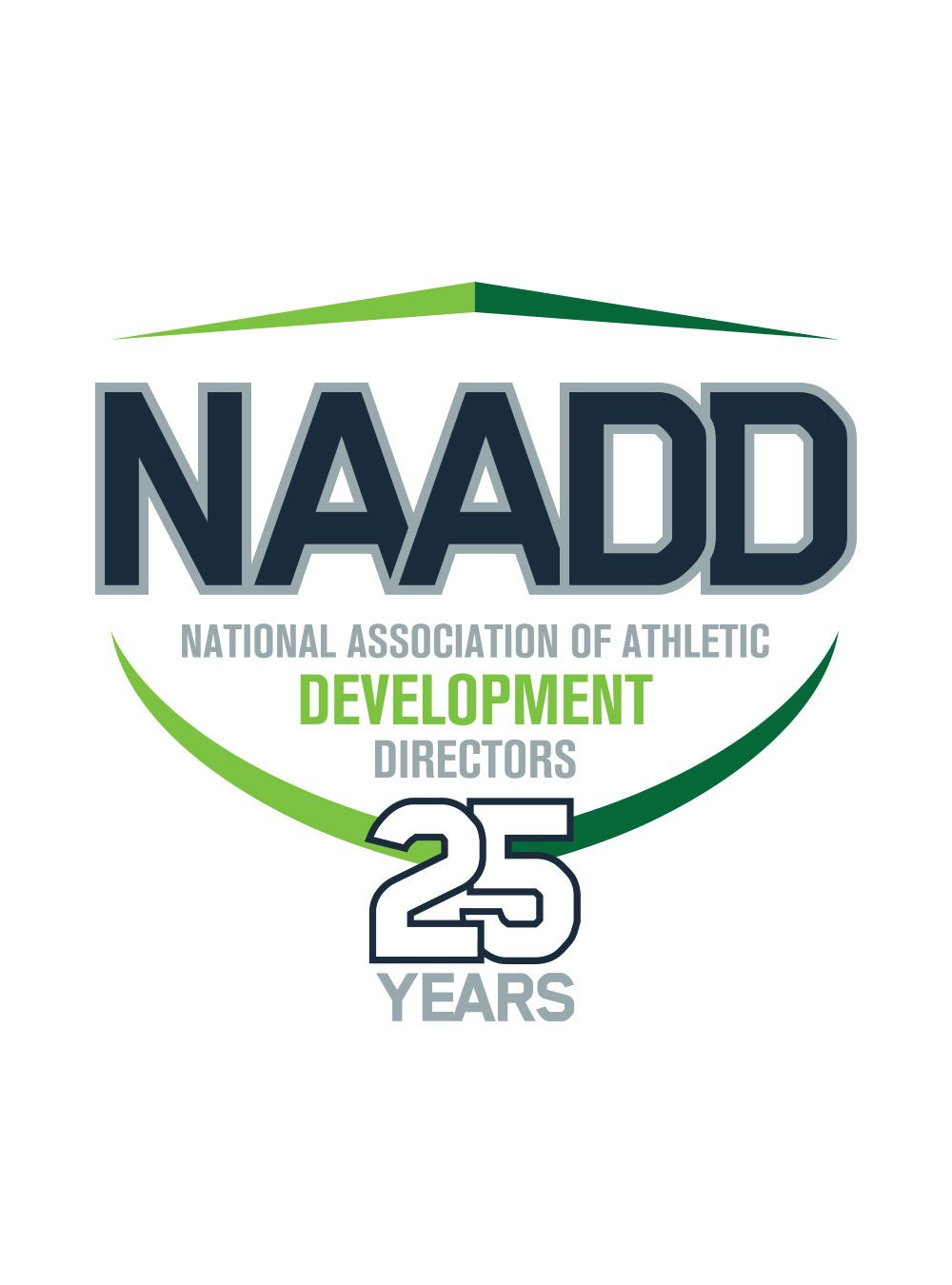 25th Anniversary Logo<br><span>National Association of Athletic Development Directors</span>