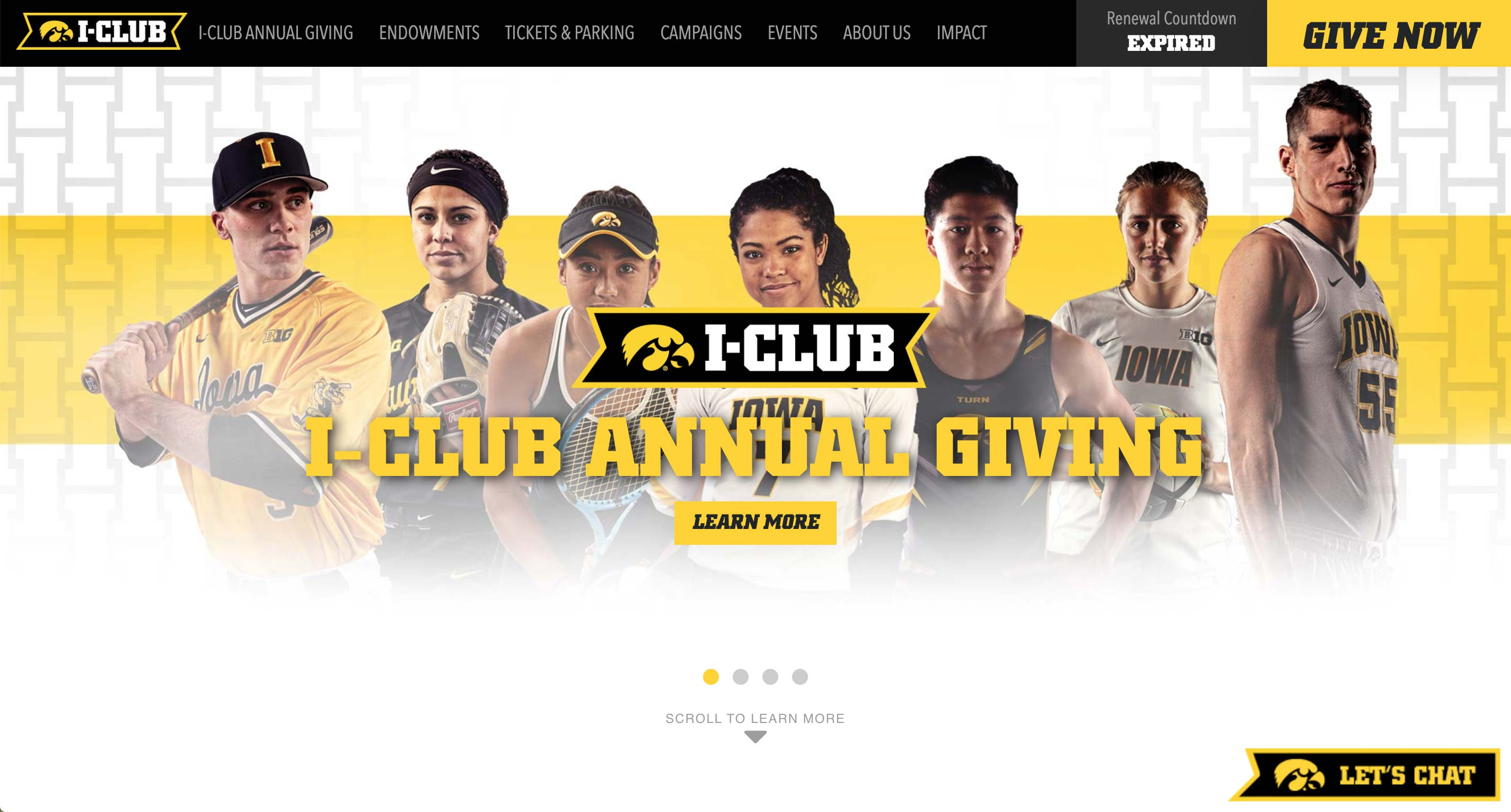 Join The I-Club Website  | <a href='http://jointheiclub.com/' target='_blank'>Visit Site <i class='nc-icon-glyph arrows-1_share-91'></i></a><br><span>University of Iowa</span>