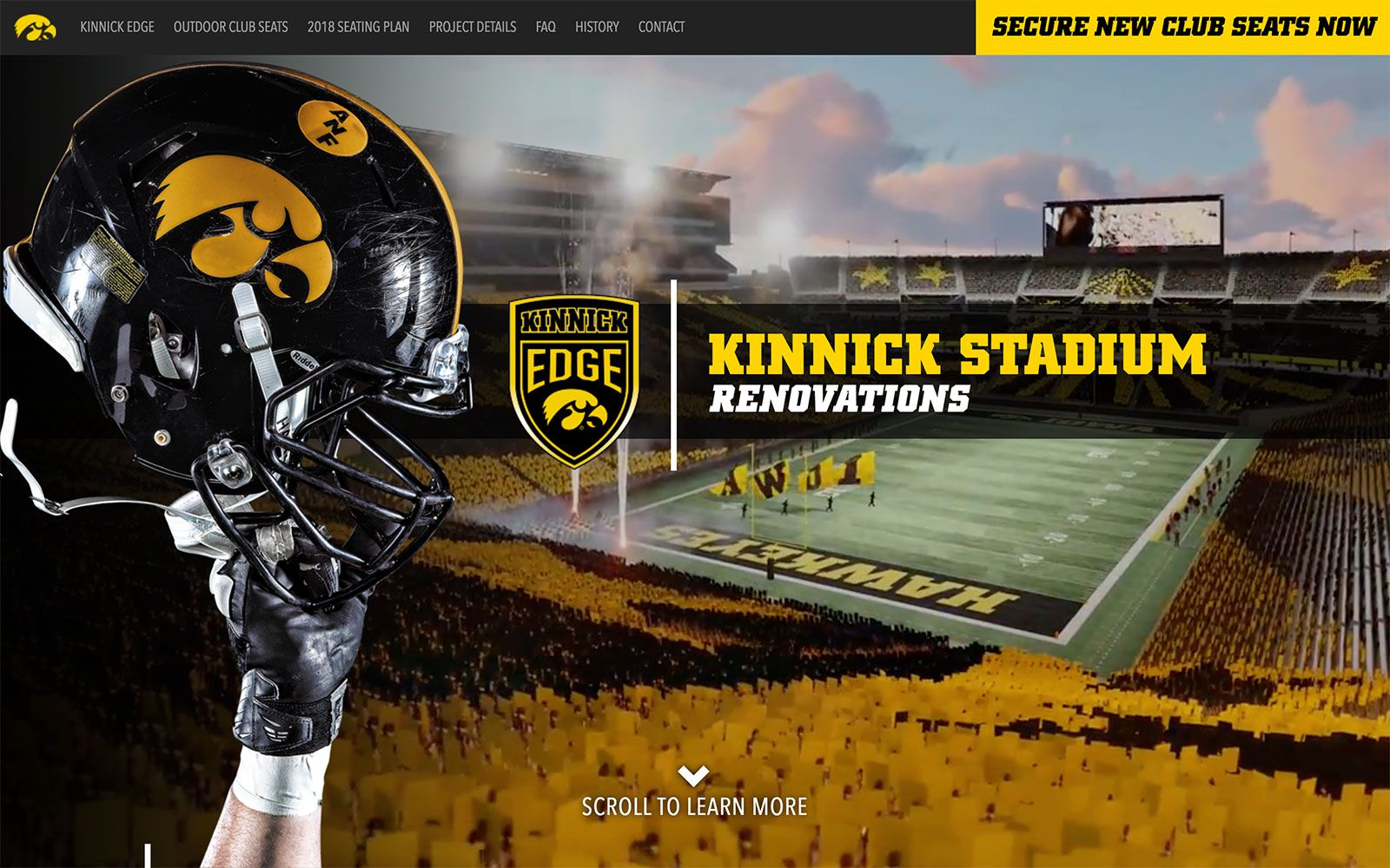 Kinnick Stadium Capital Campaign Website | <a href='http://kinnickedge.org/' target='_blank'>Visit Site <i class='nc-icon-glyph arrows-1_share-91'></i></a><br><span>University of Iowa</span>