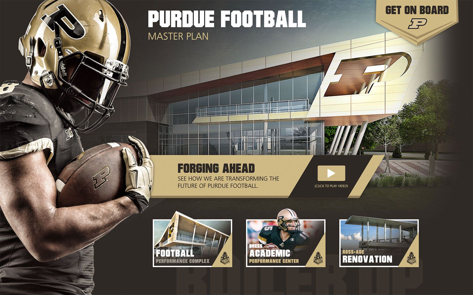 Football Capital Campaign Website | <a href='http://purduefootballmasterplan.com/' target='_blank'>Visit Site <i class='nc-icon-glyph arrows-1_share-91'></i></a><br><span>Purdue University</span>