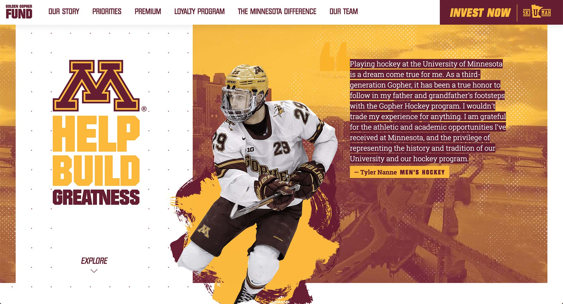Golden Gopher Fund Website | <a href='https://www.goldengopherfund.com/' target='_blank'>Visit Site <i class='nc-icon-glyph arrows-1_share-91'></i></a><br><span>University of Minnesota</span>