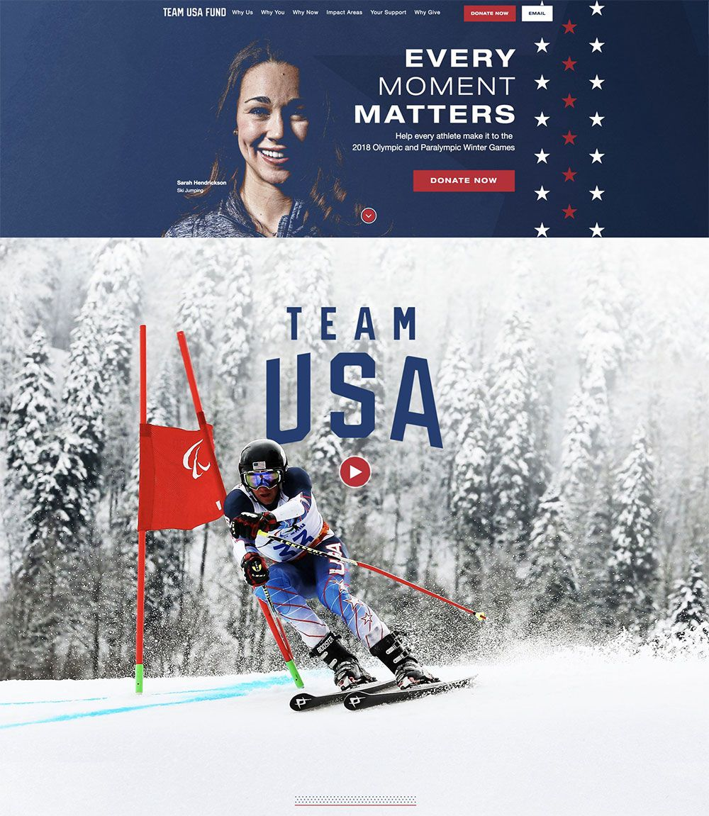 Team USA Fund Website | <a href='http://teamusafund.org/' target='_blank'>Visit Site <i class='nc-icon-glyph arrows-1_share-91'></i></a><br><span>United States Olympic Committee</span>